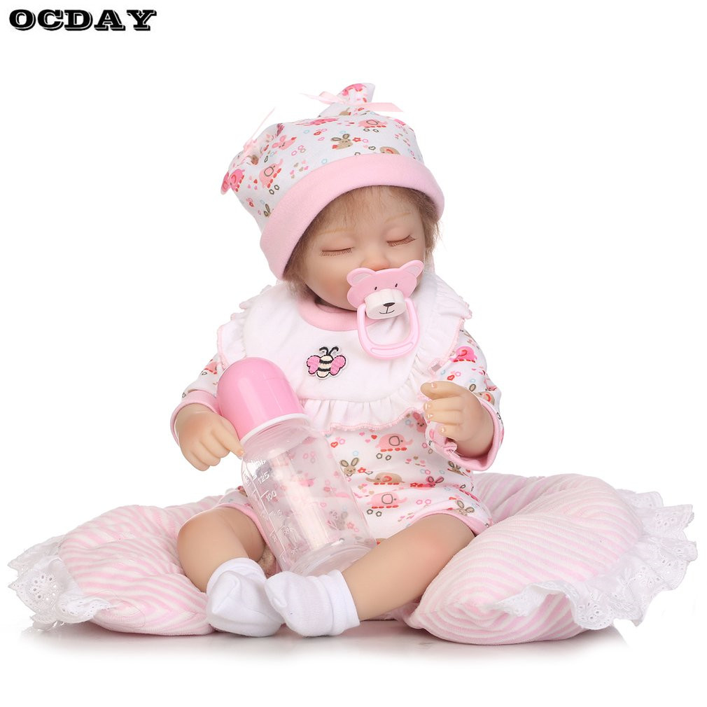 Hot! 40/42/55cm Newborn Baby Doll Toys Full Body Soft Silicone Vinyl Baby Doll Handmade Lifelike Reborn Baby Doll Safe Toys Gift free shipping 18 inches sleeping reborn baby doll handmade soft silicone vinyl baby alive doll lifelike hot toys 100