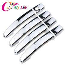 Color My Life Car Styling ABS Chrome Trim Door Handles Cover Sticker For Chevrolet Cruze 2009-2014 for OPel MOKKA ASTRA J