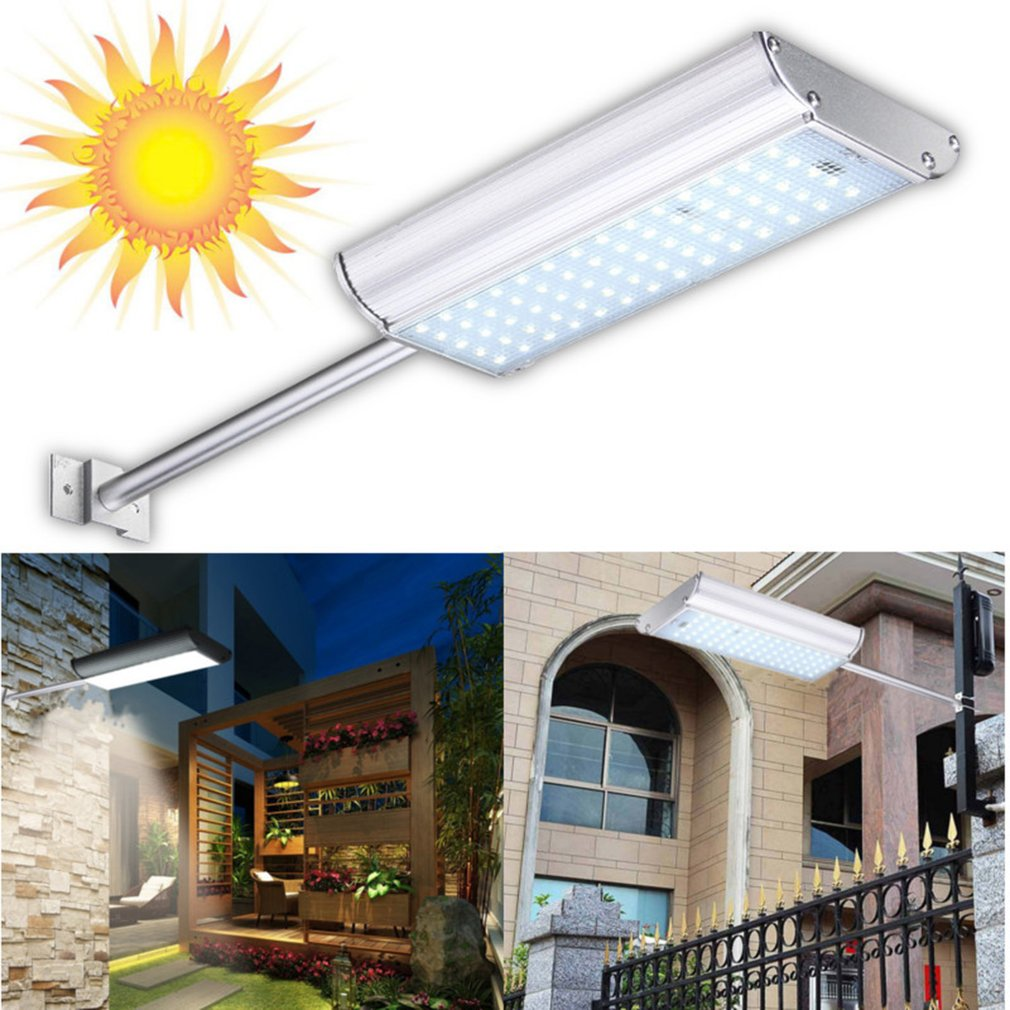 Solar 70 LED Motion Sensor Light Outdoor Garden Path Street Wall Lamp Waterproof With Remote Control