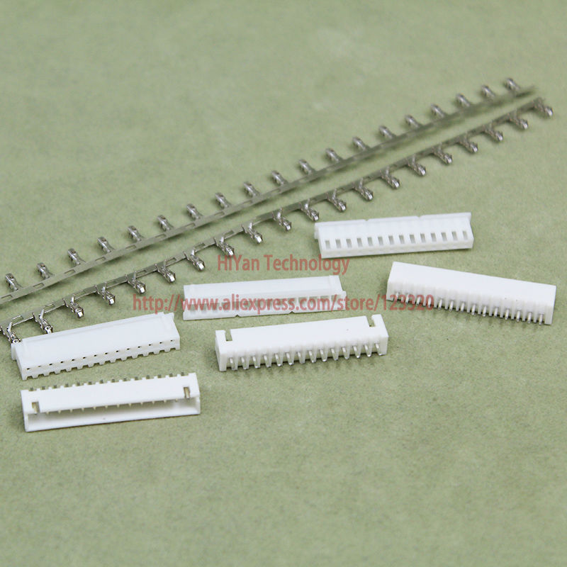 (50sets/lot) connector XH2.54 14Pin 180degrees Pitch:2.54MM 0.1inch Pin Header + Termina ...