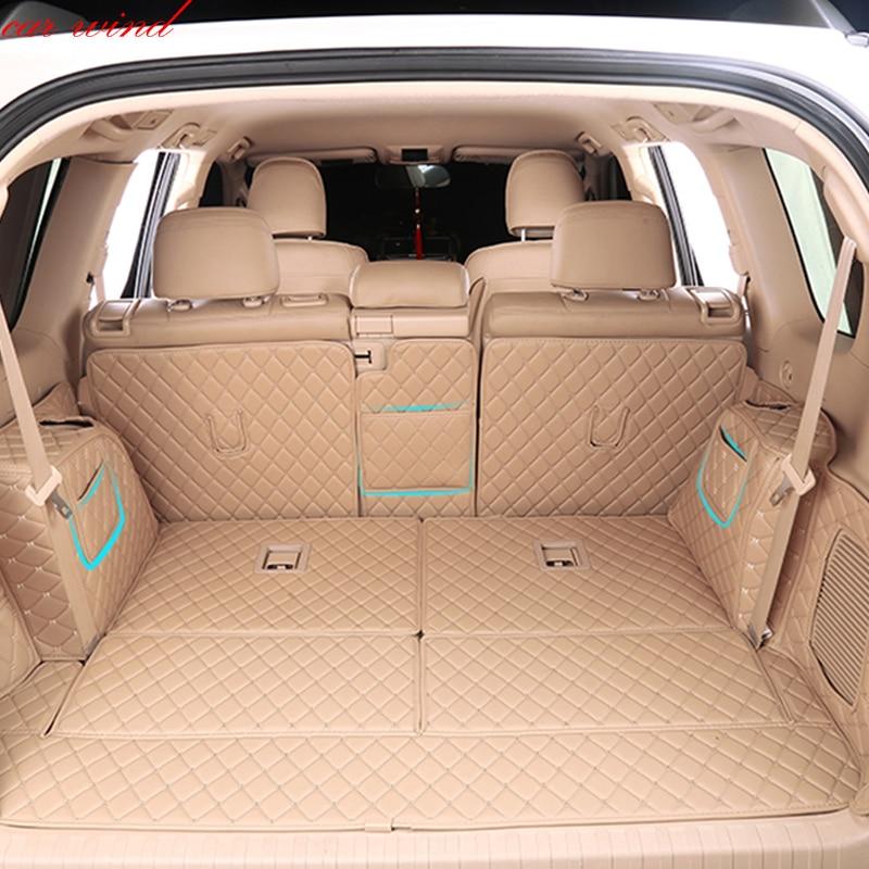 Voiture vent Personnalisé tapis de coffre de voiture Pour Toyota LAND CRUISER Prado 120 150 200 Cargo Liner Intérieur Accessoires Tapis de voiture style