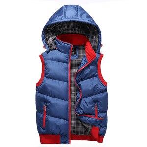 Image 5 - プラスサイズ 5XL メンズ新冬のベストサーマルノースリーブジャケット男性カジュアルスリムフィット秋のベスト男性ブランドチョッキ