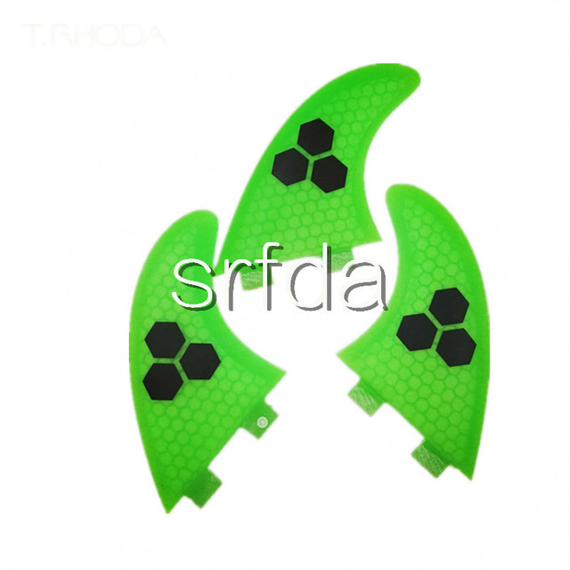 Green FCS G5 surf fins/surfboard fins fcs/fiberglass surf fins/future fins with Top quality