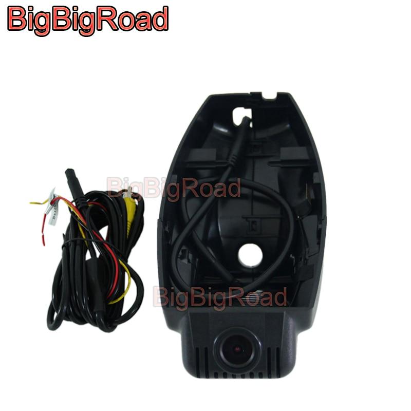BigBigRoad Car DVR Wifi Video Recorder DashCam For BMW 3 5 7 Series X1 E84 F15 X6 X3 E71 E72 F25 E46 E90 E91 E92 E83 120i 320i plusobd wifi hd dvr car rearview camera with obd2 hidden video registrator for bmw x1 e90 e91 e84 e87 1080p night vision nt96655