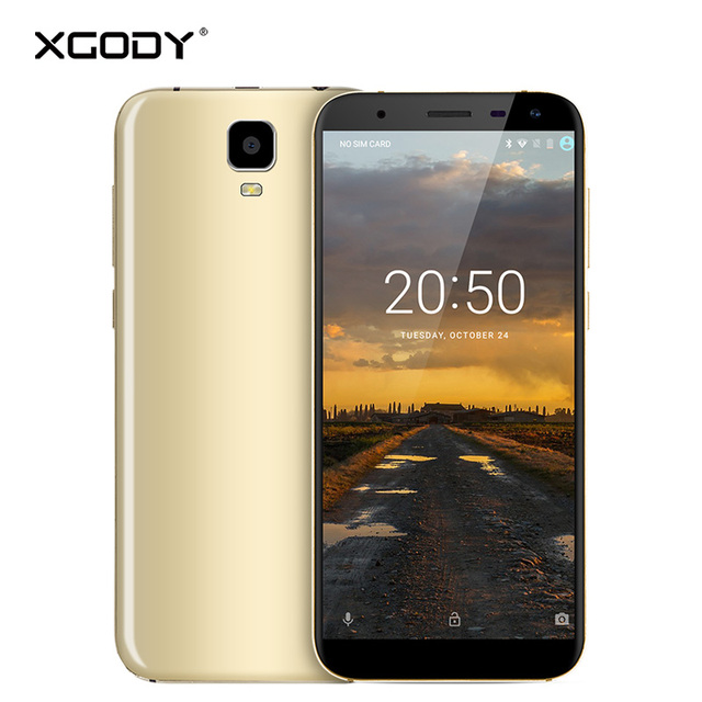 In Stock XGODY D24 3G Unlock Dual Sim Cards Mobile Phone Quad Core 1G+16G 2500mAh Smartphone Android 7.0 Cellphone Celular 8.0MP