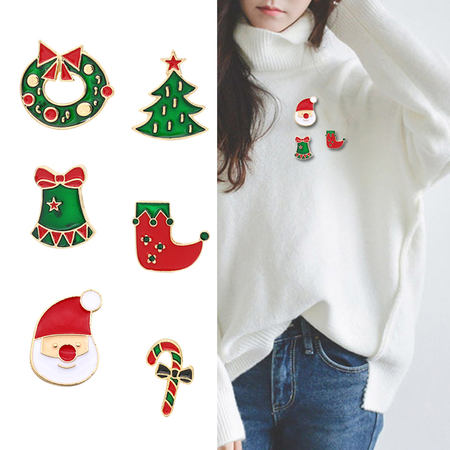 647e2eeeab992 US $0.86 25% OFF|Christmas Pins Ana Brooches Cartoon Enamel Pin Xmas Tree  Santa Claus Wreath Brooches For Women Winter Jewelry For Christmas Gift-in  ...