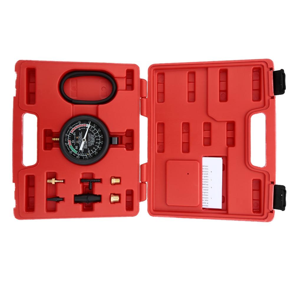 A0016 Vacuum & Fuel Pump Pressure Tester Pressure Gauge Test Tool Kit Carburettor Valve TU-1 Auto Pressure Tester