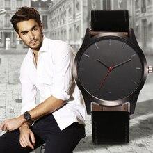 Reloj Luxury Fashion Large Dial Military Quartz Men Watch Leather Sport Watches Relogio Masculino High Quality Clock Wristwatch цена