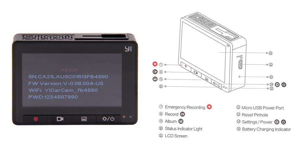 XIAOMI YI Smart Car DVR Dash Camera (13)