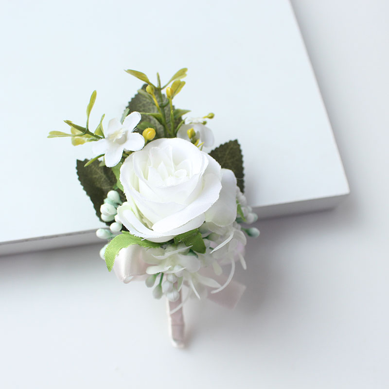 wedding boutonniere corsage groom  (29)