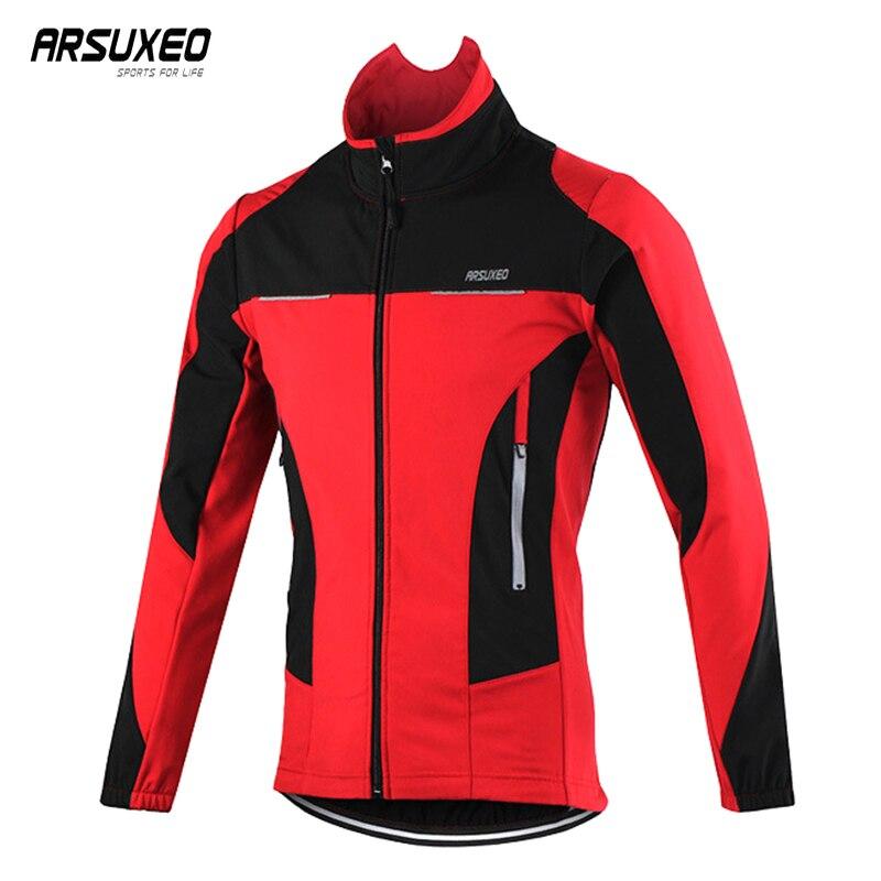 ARSUXEO hiver veste de cyclisme réfléchissante polaire veste vtt hommes manteau veste de vélo de route chaud imperméable coupe-vent