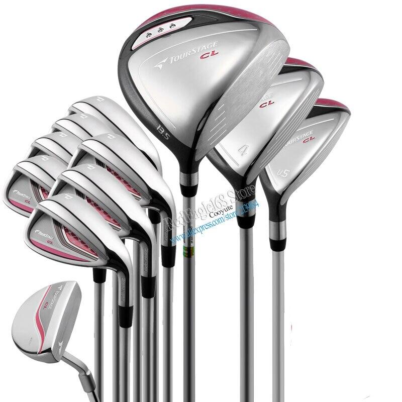 Cooyute New Women Golf clubs Bridgestone CL Compelete set Driver.wood+irons+Putter Graphite Golf shaft clubs set free shipping цена