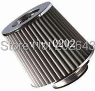 21013 desempenho do filtro de ar com aço inoxidável 76mm pescoço para carro universal cold air intake kits filtro de ar esporte para polo