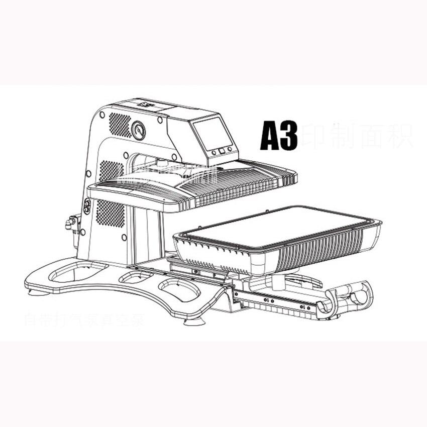 3D Sublimation transfert de chaleur imprimante 3D imprimante sous vide Machine pour cas tasses t shirts plaques 260*380mm zone 110 V/220 V ST 420 - 4