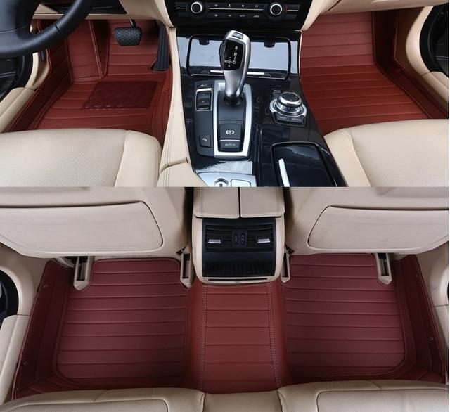 Bonne qualité! Tapis spéciaux faits sur commande de plancher de voiture pour Hyundai Santa fe 5 sièges 2020 tapis imperméables de tapis de voiture pour Santafe 2019