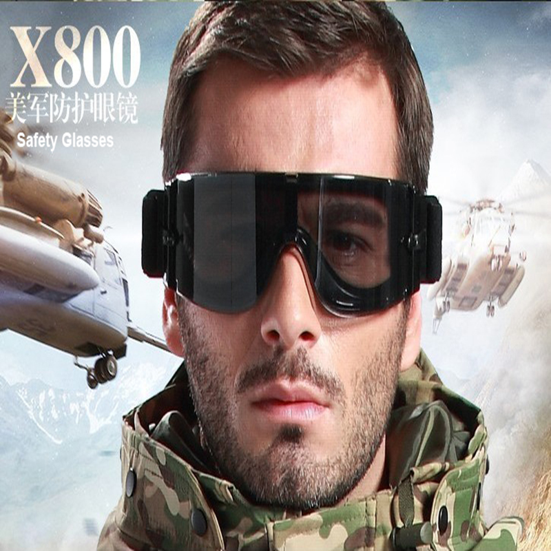 Tactical Glasses X800 USMC Tactical Sunglasses Military Hunting Shooting War Game Glasses Outdoor Sports Camping Goggles 3 Lens