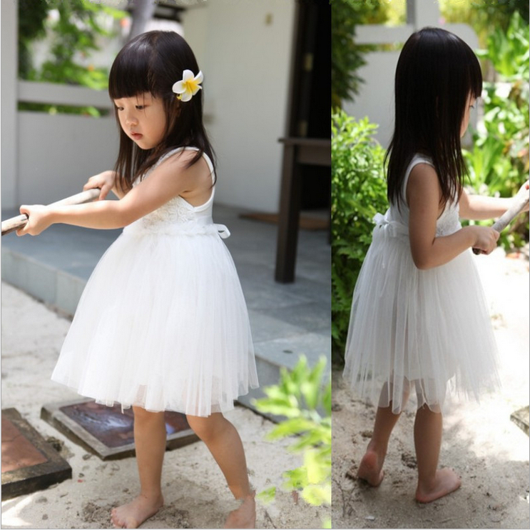 Новый 2018 детская цветок Летнее платье для девочек без рукавов юбка-пачка для малышей платье для девочек праздничные платья принцесс для мал...