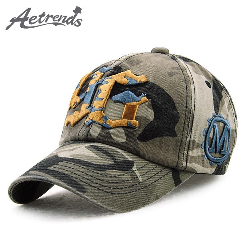 71ac851f669b [AETRENDS] gorra de béisbol del ejército hombres sombrero de camuflaje  deportes sombreros deportivos ...