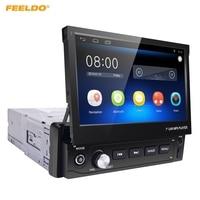 FEELDO 7inch Android 6 0 Quad Core 1DIN In Dash Manumotive Ultra Slim Car GPS Bluetooth