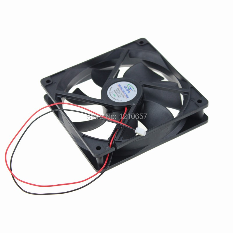 50PCS LOT GDT Ball Bearing 120mm 120x120x25mm 120x25mm Brushless DC Cooling Fan 2Pin 24v 12v high power 120w 8 inch 10 inch 12 inch subwoofer car core subwoofer amplifier board pure tone