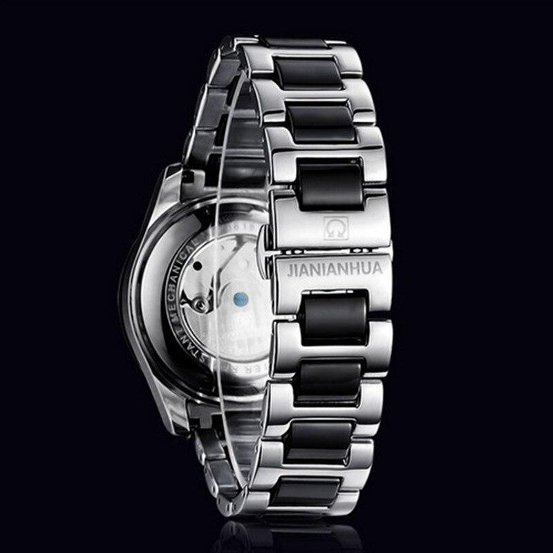 Бренд Alexis Elegnat стильный новый белый циферблат керамика Аквамарин женские часы браслет для женщин Дамы Часы Montre Femme - 5