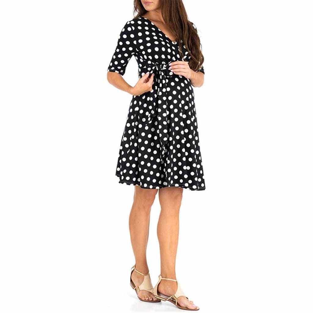 MUQGEW יולדות ללבוש לבן שמלה לנשים בהריון שמלות הריון קיץ ליולדות שמלות כלה בהריון נשים # p7