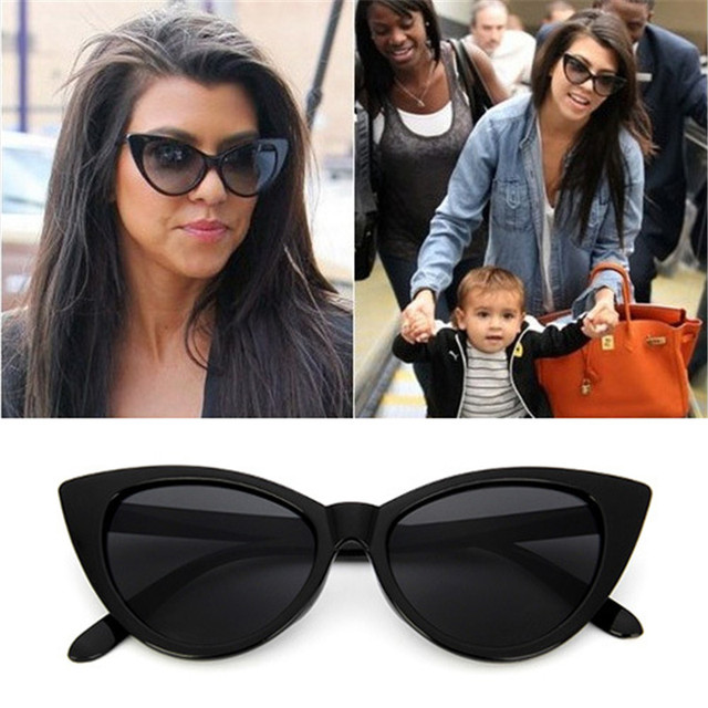 118c26eda5 De lujo de ojo de gato gafas de sol mujer marca diseñador Vintage mujer  gafas tonos
