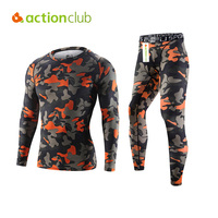 Actionclub 2016 Mens Compression Running Training Sets Quick Dry Underwear Elastic Fitness Basketball Shirts And Pants