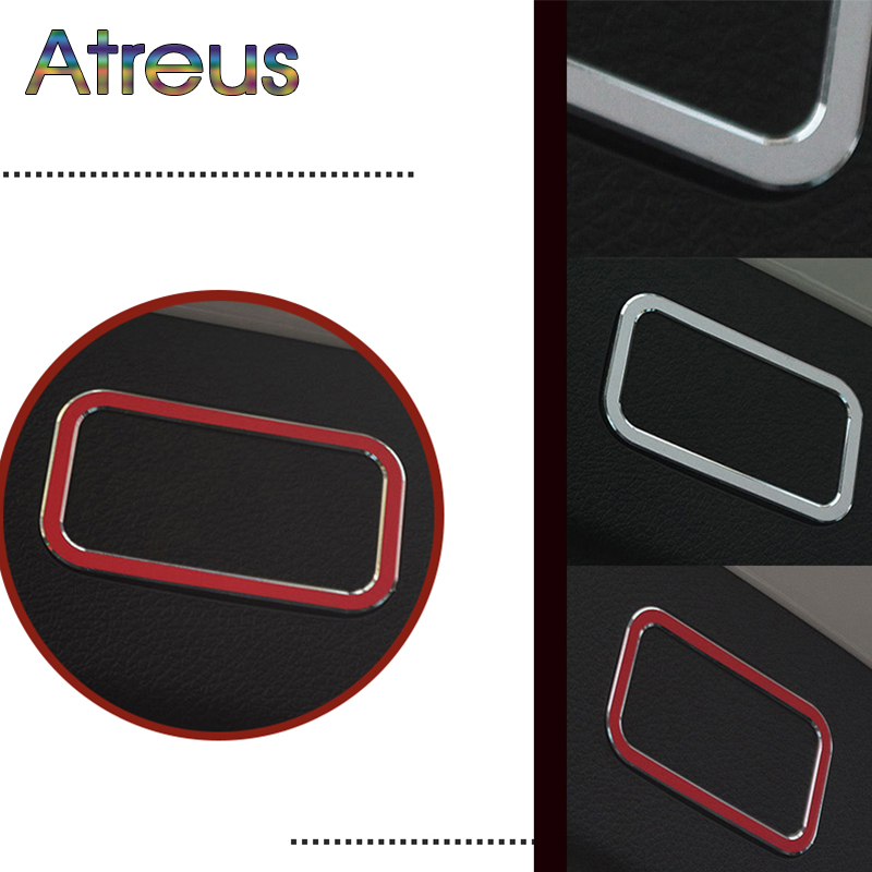1pc Car-Styling Rear Tunk Electronic Button Light Frame Stickers For Mercedes W205 E GLK CLS Class For Mercedes Benz Accessories image