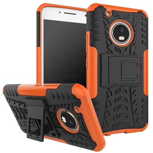 Silicon Plastic Armor Cover Shockproof Rugged Kickstand Protective Case For Motorola Moto E3 G5 G4 M Z Z2 C Force Play Plus