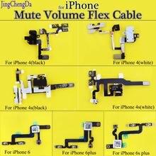 Сменные детали jcd для iphone гибкий кабель 4 6 6plus с аудиоразъемом