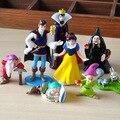 Disney Brinquedos 8 pçs/set 5-10 cm Pvc Princesa Branca de Neve E Os Sete Anões Rainha Príncipe Figura Modelo Boneca de brinquedo para Crianças Presentes