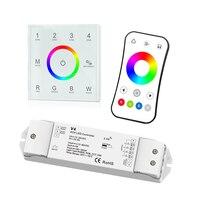 New Led RGBW strip controller 2.4GHz RF Wireless AC 100V  240V touch panel RGBW controller V4 CV receiver 12V 5A*4CH R8 1 Remote|RGB Controlers| |  -