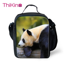 Thikin New Panda Lunchbox Food Picnic Bag for Boys Girls Cactus Small  Lunch Students Pouch Storage