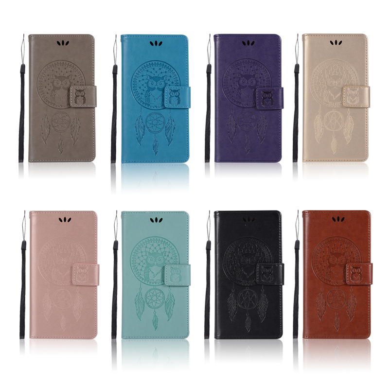 Embossed Wallet Case For HTC One X10 PU leather Owl Flip Cover Case For HTC X10 5.5 Case Phone Capa