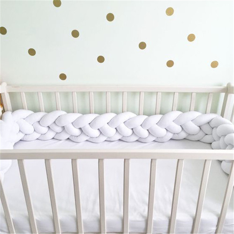 200 см x 17 см детская кроватка бампер завязанная узлом, заплетенная плюшевая детская колыбель декор для новорожденных Подарочная Подушка детская кровать спальный бампер - Цвет: 4 ropes as pictures