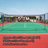 Portable Standard Badminton Net Foldable Professional Volleyball Training Square Mesh Tennis Badminton Square Net 4.1M/5.1M