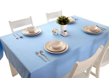 YO HOOM Kitchen Cotton Tablecloth Tablecover Coffee Table Cloth Table Cover Simple Blue Color Optional цена