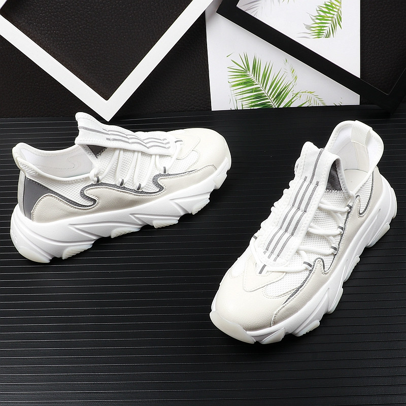 high quality men youth casual shoes thick Bottom mesh Breathable mixed color Platfrom Leisure Shoes For web celebrity 38-43 5