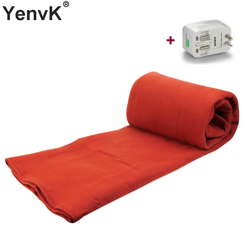 Red Electric Blanket Heating Thicker Warm Mat DoubleSingle Body Warmer Couverture Electrique Carpets Heated Thermostat Blanket (6)