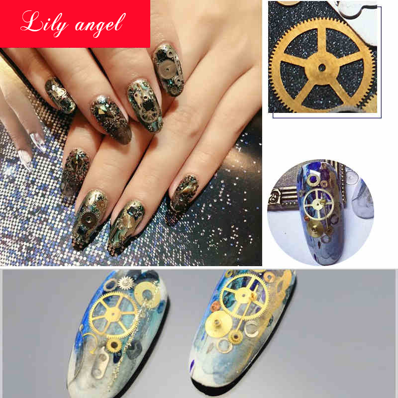 Lily Angel 1box Nail Art Tips Sticker Decals Decorations For Manicure Patch Diy Metallic Mechanical
