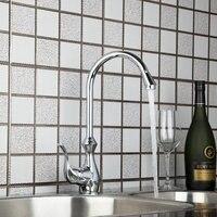 Ouboni Kitchen Faucets Torneira Hight Quality Swivel Chrome 8498 4 Basin Sink Water Tap Vessel Lavatory