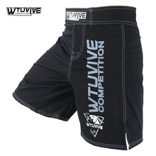 WTUVIVE Black Mens MMA Boxing Trunks Muay Thai Fight Shorts Sanda Fight Wear Cheap Mixed Martial Arts Kickboxing tiger muay thai