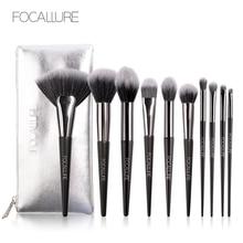 10 шт., набор профессиональных кистей для макияжа, набор кистей для макияжа, набор инструментов, тени для глаз, натуральный Синтетический набор кистей для волос, инструменты, быстрая