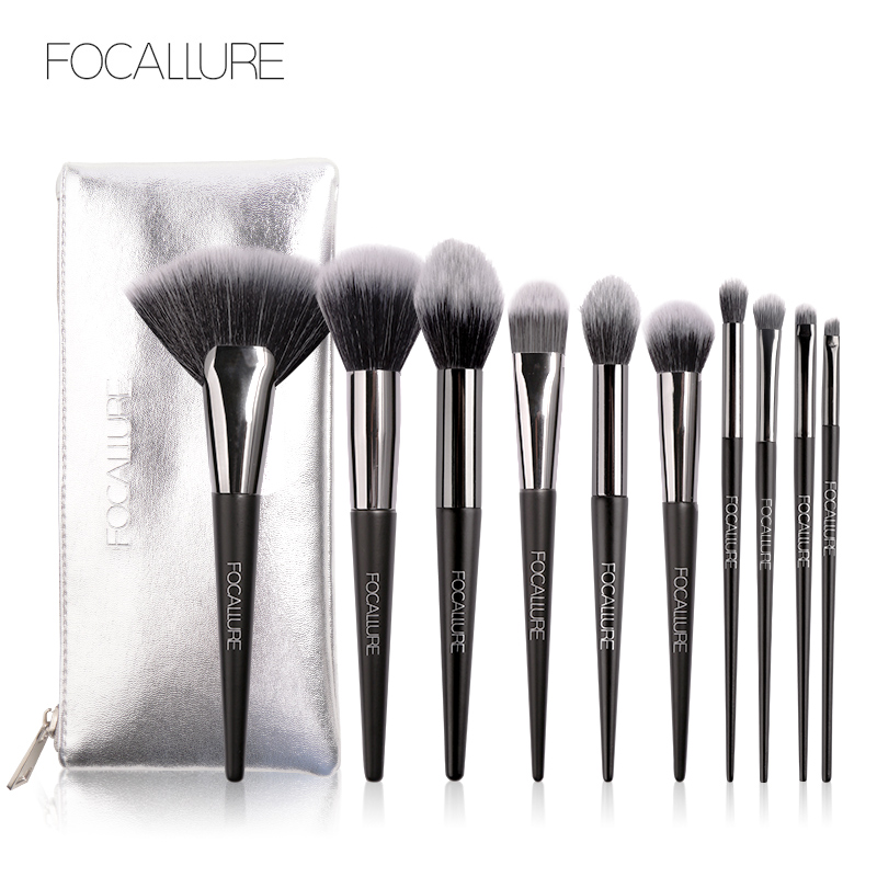 10Pcs Professional Make-Up Pinsel <font><b>Set</b></font> Make up Pinsel Tools kit Eye Liner Schatten Natürliche-synthetische Haar Pinsel <font><b>Set</b></font> werkzeuge Schnelle Schiff image