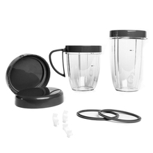 Premium Accessory Kit , Cup and resealable Lid Gasket Shock Pad Jar Ring, Spare Replacement Part kit, 11-Piece Set