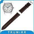 16mm 18mm 20mm 22mm Genuíno Relógio De Couro Correia de Pulso de Banda Strap para Longines Master Principal Conquista pulseira Marrom Preto