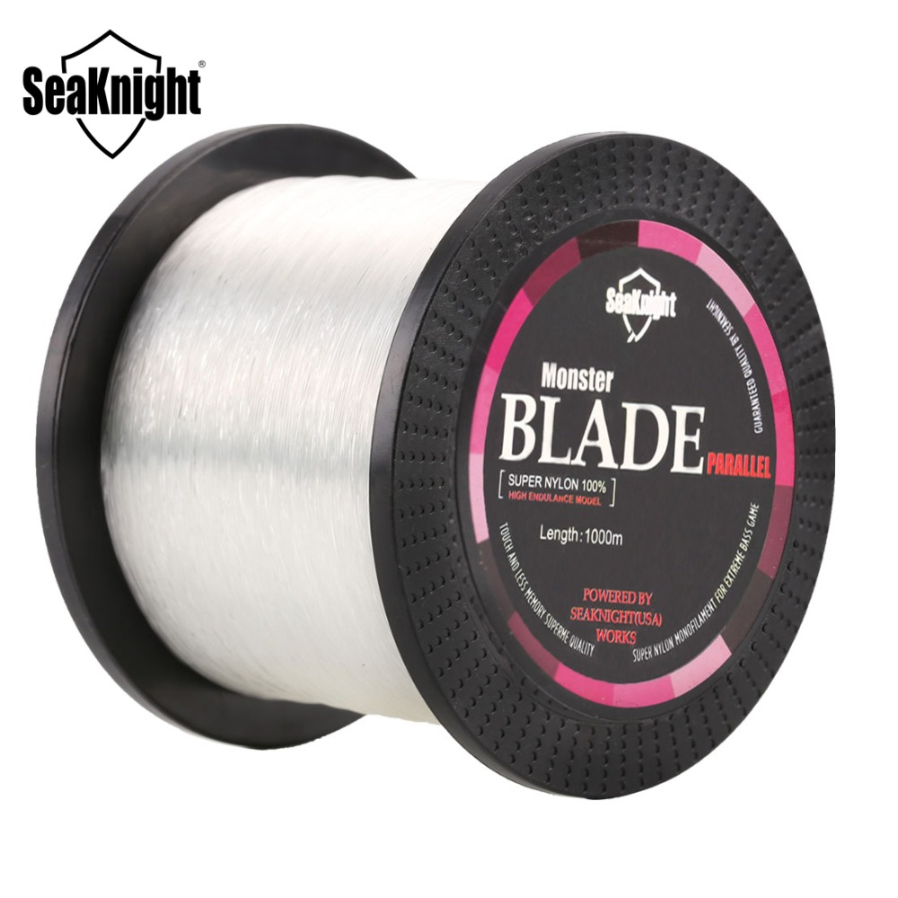 SeaKnight Brand BLADE Series 1000M Monofilament Nylon Fishing Line 0.105-0.500mm Durable Japan Material Carp Fishing Line 2-35LB