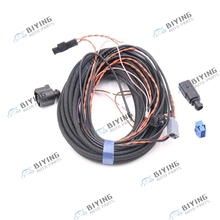 For VW Passat B8 Golf MK7 7 Rear View Camera Reversing badge Logo Camera Highline with canbus Cable Wire Harness цена