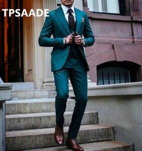 Image 2 - TPSAADE أزياء الرجال 3 قطعة دعوى العريس البدلات الرسمية بدلة الزفاف الرسمي بدلة عمل مخصص زائد حجم السترة (سترة + السراويل + التعادل)
